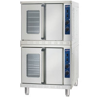 Alto-Shaam ASC-4EST Platinum Series Stacked Full Size Electric Convection Oven with Manual Controls - 10,400 Watt