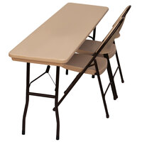 Correll RX1872 18 inch x 72 inch Mocha Granite Plastic Tamper-Resistant Folding Table