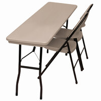 Correll RX1872 18 inch x 72 inch Mocha Granite Plastic Tamper-Resistant Folding Table