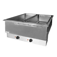 APW Wyott HFWAT-4 Insulated Four Pan Drop In Hot Food Well with Attached Controls and Plug