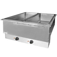APW Wyott HFWAT-4D Insulated Four Pan Drop In Hot Food Well with Drain and Attached Controls and Plug
