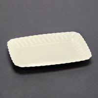 Fineline Flairware 257BO Bone 5 inch x 7 inch Plastic Snack Tray - 252 / Case