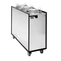 APW Wyott Lowerator HML3-12A Mobile Enclosed Adjustable Heated Three Tube Dish Dispenser for 9 1/4 inch to 12 inch Dishes