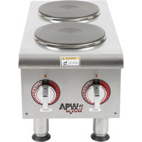 APW Wyott SEHPi Dual Solid Burner Countertop Electric Range