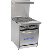 Bakers Pride Restaurant Series 24-BP-4B-S20 4 Burner Gas Range with Standard 20 inch Oven