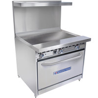 Bakers Pride Restaurant Series 36-BP-0B-G36-S30 Gas Range with Standard 30 inch Oven and 36 inch Griddle