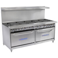 Bakers Pride Restaurant Series 72-BP-12B-S30 12 Burner Gas Range with Two Standard 30 inch Ovens