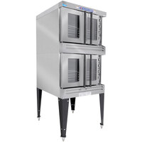 Bakers Pride BCO-G2 Cyclone Series Double Deck Full Size Gas Convection Oven - 120,000 BTU