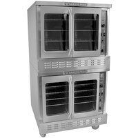 Bakers Pride BPCV-E2 Restaurant Series Bakery Depth Double Deck Full Size Electric Convection Oven - 10,500 Watt
