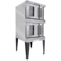 Bakers Pride BPCV-G2 Restaurant Series Bakery Depth Double Deck Full Size Gas Convection Oven - 180,000 BTU
