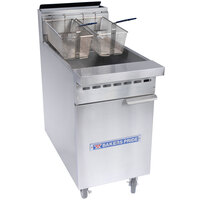 Bakers Pride BPF-3540 Restaurant Series 35-40 lb. Gas Floor Fryer - 76,000 BTU