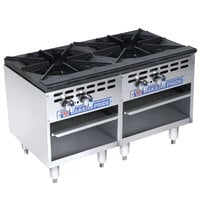 Bakers Pride Restaurant Series BPSP-18-3-D Two Burner Stock Pot Range