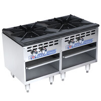 Bakers Pride Restaurant Series BPSP-36-2-D Two Burner Side-by-Side Stock Pot Range