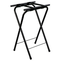 Carlisle C362503 31 1/2 inch Folding Black Metal Tray Stand