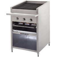 Bakers Pride F-48GS Gas Floor Model Glo Stone Charbroiler High Performance 48 inch - 165,000 BTU