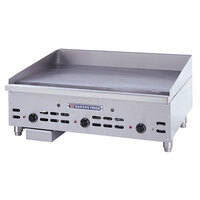 Bakers Pride HDMG-2436 Heavy Duty 36 inch Countertop Griddle with Manual Controls Gas