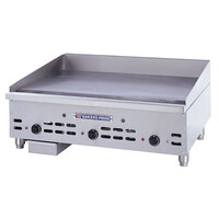Bakers Pride HDTG-2472 Heavy Duty Countertop Griddle with Thermostatic Controls Gas 72 inch