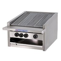 Bakers Pride L-24GS 24 inch Low Profile Gas Glo Stone Charbroiler - 108,000 BTU