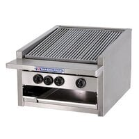Bakers Pride L-36GS 36 inch Low Profile Gas Glo Stone Charbroiler - 144,000 BTU
