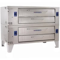 Bakers Pride Y-602BL Super Deck Y Series Brick Lined Gas Double Deck Pizza Oven 60 inch - 240,000 BTU