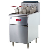 Avantco FF518 70-100 lb. Stainless Steel Tube Floor Fryer - 5 Tubes, 150,000 BTU