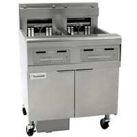 Frymaster FPEL414-6LCA Electric Floor Fryer with Full Right Frypot / Three Left Split Pots and Automatic Top Off - 14 kW