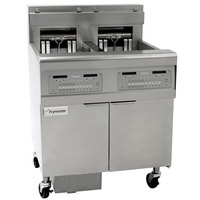 Frymaster FPEL114-2C 30 lb. Split Pot Electric Floor Fryer - 208V, 3 Phase, 14 kW