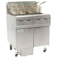 Frymaster FPGL430-6RC Gas Floor Fryer with Full Left Frypot / Three Right Split Pots and Automatic Top Off - 300,000 BTU