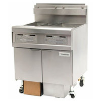Frymaster FPGL230-CA Gas Floor Fryer with Two 30 lb. Frypots and Automatic Top Off - 150,000 BTU