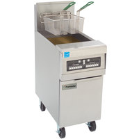 Frymaster PH155-CBL High Efficiency Gas Fryer 50 lb. with Basket Lift and Programmable Computer Controls - 80,000 BTU