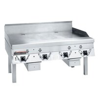 Garland CG-72R-01 72 inch Master Gas Production Griddle with Thermostatic Controls - 180,000 BTU