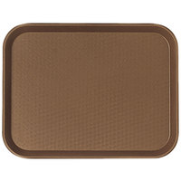 Cambro 1014FF167 10 inch x 14 inch Brown Customizable Fast Food Tray - 24/Case