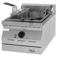 Garland ED-30SFT Designer Series 34 lb. Dual Tank Electric Commercial Countertop Super Deep Fryer - 16 kW