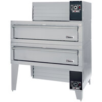 Garland G56PT/B 63 inch Double Air Deck Pizza Oven - 160,000 BTU