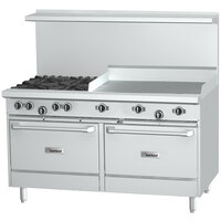Garland G60-2G48RS 2 Burner 60 inch Gas Range with 48 inch Griddle, Standard Oven, and Storage Base - 176,000 BTU