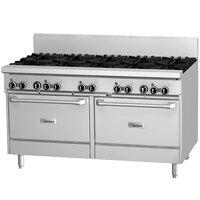 Garland GF60-4G36RR 4 Burner 60 inch Gas Range with Flame Failure Protection, 36 inch Griddle, and 2 Standard Ovens - 234,000 BTU
