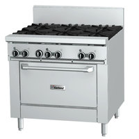 Garland GFE36-6R 6 Burner 36 inch Gas Range with Flame Failure Protection, Electric Spark Ignition, and Standard Oven - 194,000 BTU