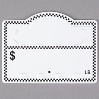 Deli Number Tag with Insert - Black Checkered