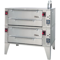 Garland GPD48-2 63 inch Pyro Double Deck Gas Pizza Oven - 192,000 BTU