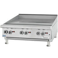 Garland GTGG36-GT36M 36 inch Gas Countertop Griddle with Thermostatic Controls - 84,000 BTU
