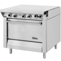 Garland M43-3R Master Series 3 Section 34 inch Even Heat Hot Top Gas Range with Standard Oven - 106,000 BTU