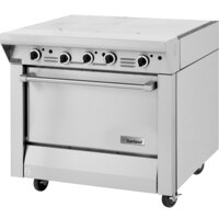 Garland M46R Master Series 2 Section Even Heat Hot Top 34 inch Range with Standard Oven - 130,000 BTU