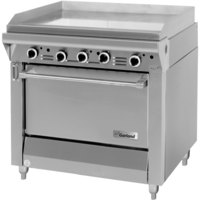 Garland M48R Master Series 34 inch Gas Griddle with Standard Oven - 139,000 BTU (Thermostatic Controls)