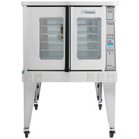 Garland MCO-GS-10 Single Deck Standard Depth Full Size Gas Convection Oven with Digital Controls - 60,000 BTU