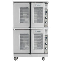 Garland MCO-GS-20S Double Deck Standard Depth Full Size Convection Oven with Analog Controls - 120,000 BTU