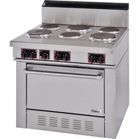 Garland SS686 Sentry Series 6 Sealed Burner Commercial Electric Restaurant Range with Standard Oven - 19 kW