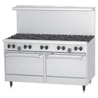 Garland SunFire Series X60-10RR 10 Burner 60 inch Gas Range with Two Standard Ovens - 366,000 BTU