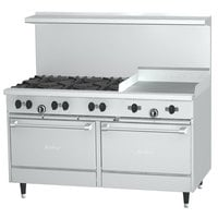 Garland SunFire Series X60-6G24RR 6 Burner Gas Range with 24 inch Griddle and Two Standard Ovens