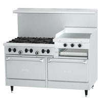 Garland SunFire Series X60-6R24RR 6 Burner Gas Range with 24 inch Raised Griddle/Broiler and Two Standard Ovens