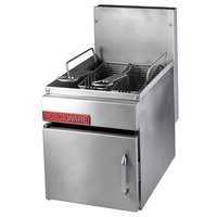 Cecilware GF-10 13 lb. Countertop Gas Fryer with Baskets